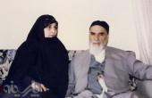 عکس امام خمینی و عروسش