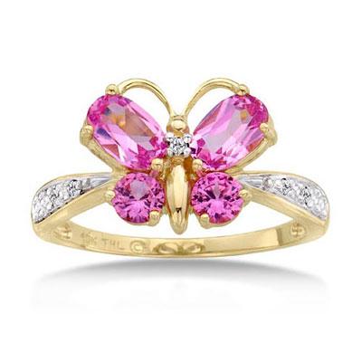 Butterfly Rings For Women3 مدل انگشتر با نگین صورتی 2014