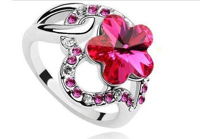 Free Shipping Charm Blue Heart Crystal Ring Jewelry Fashion Women Imitation Diamond Rings Jewellry 430 9 مدل انگشتر با نگین صورتی 2014