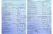 برگه امتحانی فرهاد مجیدی در انگلیس