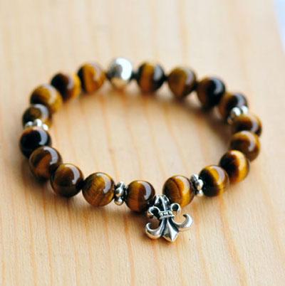 New Chrome Hearts BS Flare Tigers Eyes Beads Bracelet مدل دستبند های دخترانه شیک 2014