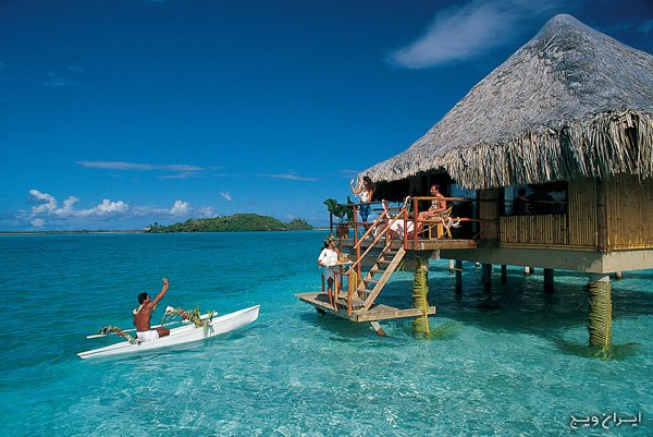 bora bora most relaxing places in the world www.iranvij.ir  آرامش‌بخش‌ترین مناطق جهان