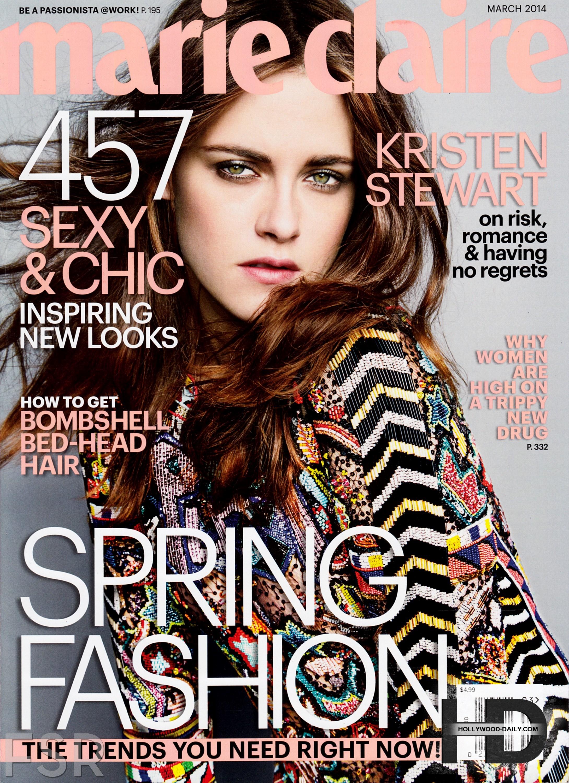 کاور و فتوشاتهای جدید کریستن استورات برای مجله Marie Claire شماره مارس ۲۰۱۴, جدید 1400 -گهر