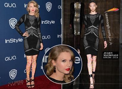لباس و جواهرات Taylor Swift در گلدن گلوب ۲۰۱۴, جدید 1400 -گهر