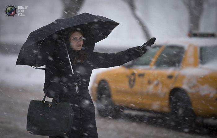 تصاویری از برف و یخبندان شدید در آمریکا, جدید 1400 -گهر