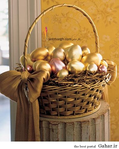 0406 msl metallic egg xl تزئین تخم مرغ در سبد برای نوروز امسال