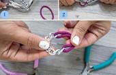 نحوه درست کردن دستبند فشن