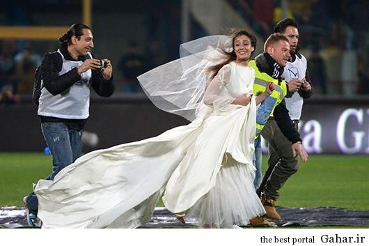 1 087oogs3zlcskb94af عروس خانم بازی فوتبال را به هم زد