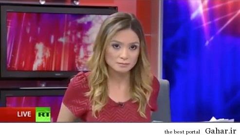 1 131402 871 حرکت عجیب خبرنگار زن در برنامه زنده