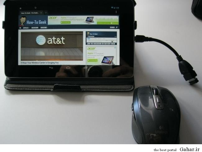 1 android usb otg wireless mouse53 وصل کردن موس،صفحه کلید و فلش به تلفن همراه و تبلت