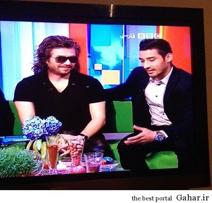 1 e04335e6 92a6 427d bd03 0a57431554cf عکس رضا قوچان نژاد در کنار خواننده لس آنجلسی در BBC فارسی