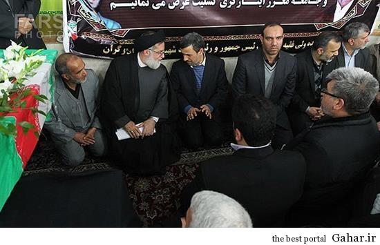 1 wcg احمدی نژاد در تشییع پدر شهید کاوه / عکس