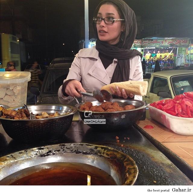 1 www Campec Ir Tina v Ronak 2 عکس تینا آخوند تبار در حال فلافل خوردن در اهواز
