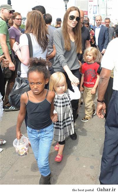 hhe1240 عکس های آنجلینا جولی و فرزندانش