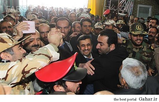 wcg2 احمدی نژاد در تشییع پدر شهید کاوه / عکس