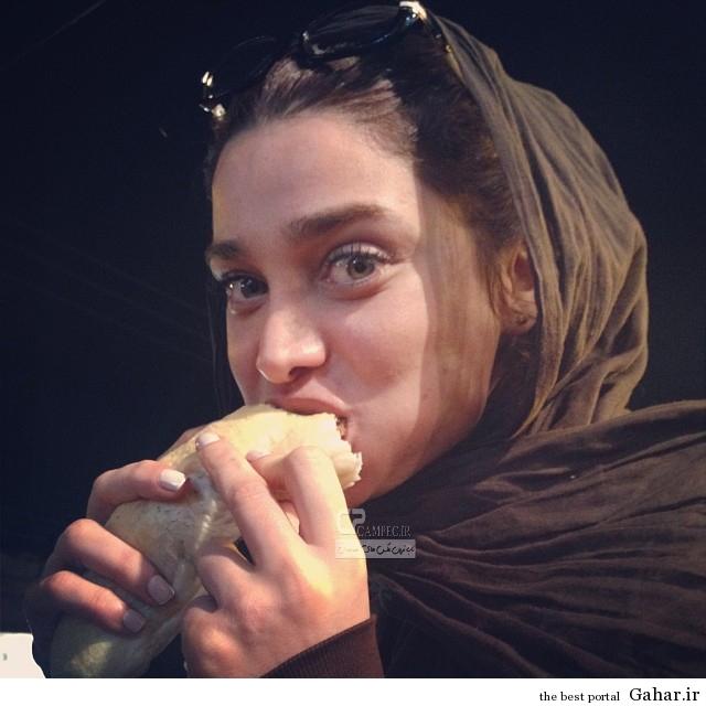 www Campec Ir Tina v Ronak 1 عکس تینا آخوند تبار در حال فلافل خوردن در اهواز