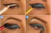 طراحی چشم با رنگ های آبی و زرد