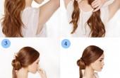 مدل و آموزش تصویری شینیون ساده ی مو