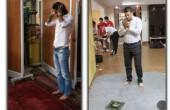 علی دایی و فرهاد مجیدی در حال نماز خواندن + عکس