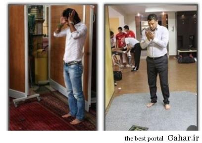 1 12312312312ghjgfhgfhf علی دایی و فرهاد مجیدی در حال نماز خواندن + عکس