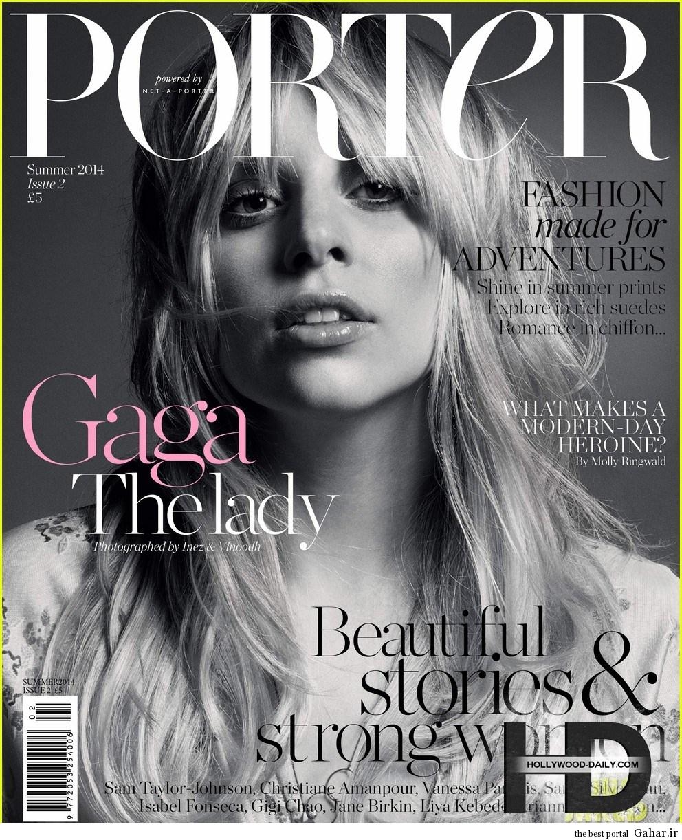 فتوشات های جدید لیدی گاگا برای مجله ی Porter, جدید 1400 -گهر