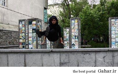 1 quwzl7v7tc8xlosgbq1 دختر پارکور کار ایرانی / عکس