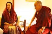 دیدار کتایون ریاحی با راهبان بودایی