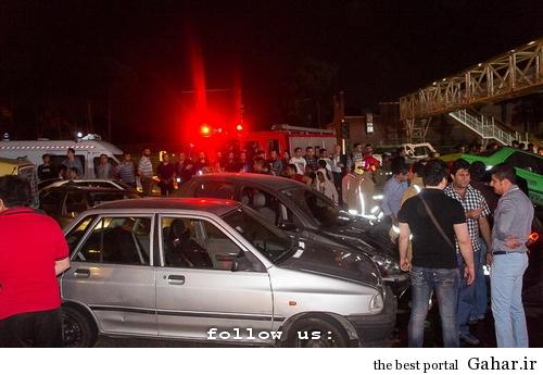 635327393167681958 تصادف طولانی ۱۲ خودرو در میدان توحید تهران / عکس