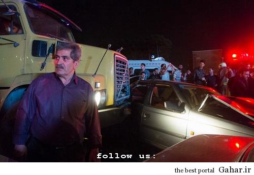 635327393664121196 تصادف طولانی ۱۲ خودرو در میدان توحید تهران / عکس