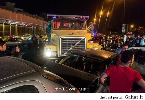 635327393865622876 تصادف طولانی ۱۲ خودرو در میدان توحید تهران / عکس