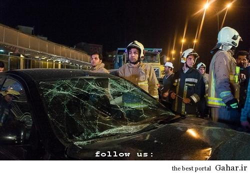 635327393903939978 تصادف طولانی ۱۲ خودرو در میدان توحید تهران / عکس
