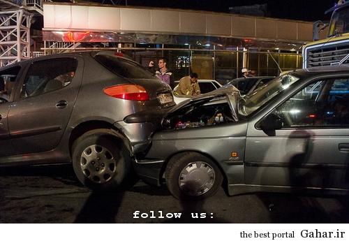635327393934928258 تصادف طولانی ۱۲ خودرو در میدان توحید تهران / عکس