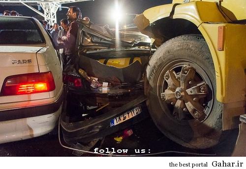 635327394261762289 تصادف طولانی ۱۲ خودرو در میدان توحید تهران / عکس