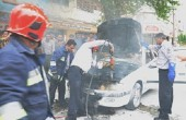 آتش گرفتن پژو پارس در اهواز / عکس