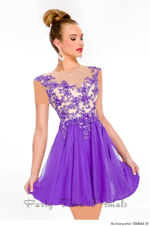 مدل جدید لباس مجلسی دخترانه کوتاه بسیار زیبا ۹۳, جدید 1400 -گهر