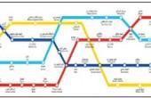نقشه جدید کامل خطوط ۱ تا ۵ متروی تهران