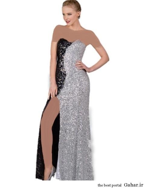 lebas majlesi مدل جدید لباس مجلسی پولک دار 93