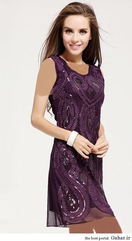 lebas majlesi 9 مدل جدید لباس مجلسی پولک دار 93