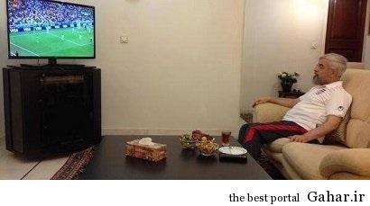 دکتر روحانی در حال تماشای بازی تیم ملی فوتبال / عکس, جدید 1400 -گهر