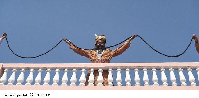 عکس هایی از درازترین سبیل جهان در گینس, جدید 1400 -گهر