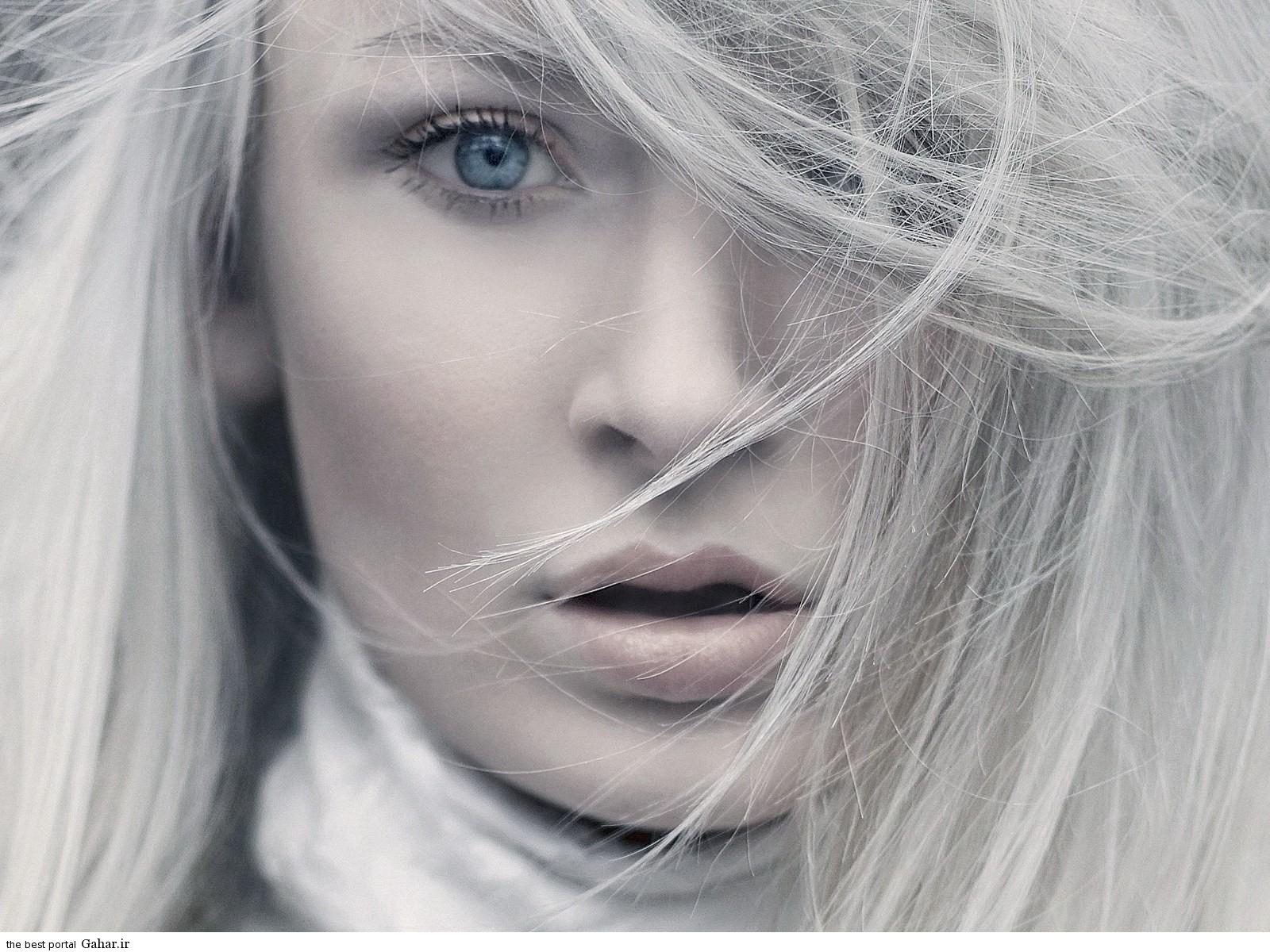 Blue eyes white hair HD Wallpapers راه های طبیعی برای جلوگیری از سفید شدن مو