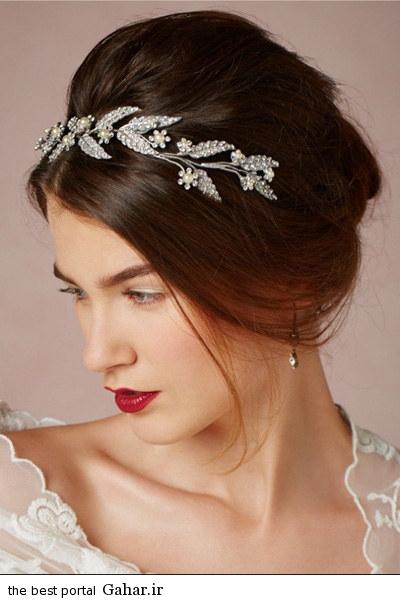 aroos hairstyle 2015 3 مدل جدید آرایش مو عروس با تل