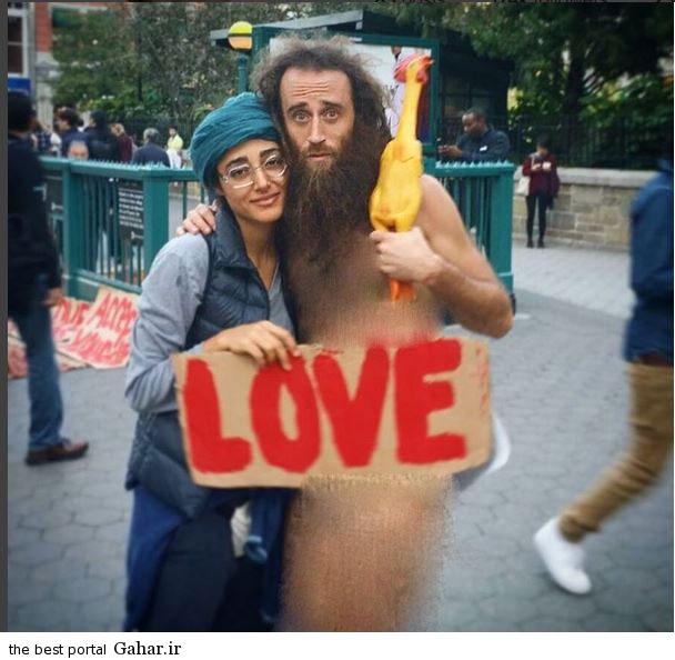 عکس گلشیفته فراهانی و همسر جدیدش, جدید 1400 -گهر