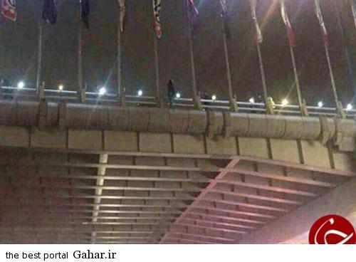 عکس / خودکشی ناکام دختر جوان بالای پل, جدید 1400 -گهر