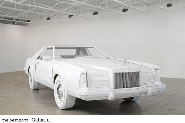 kaghazi1 ساخت یک خودرو مقوایی در اندازه واقعی/عکس