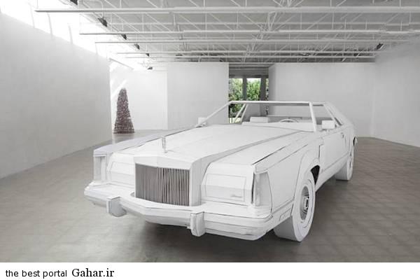 kaghazi2 ساخت یک خودرو مقوایی در اندازه واقعی/عکس