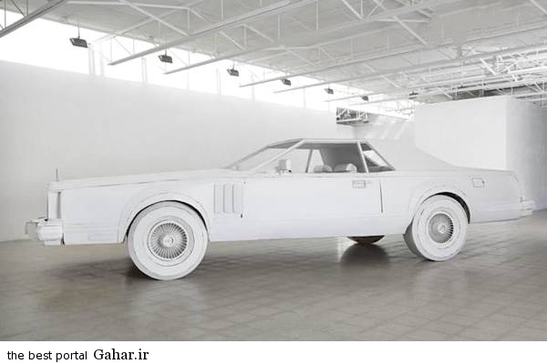 kaghazi4 ساخت یک خودرو مقوایی در اندازه واقعی/عکس