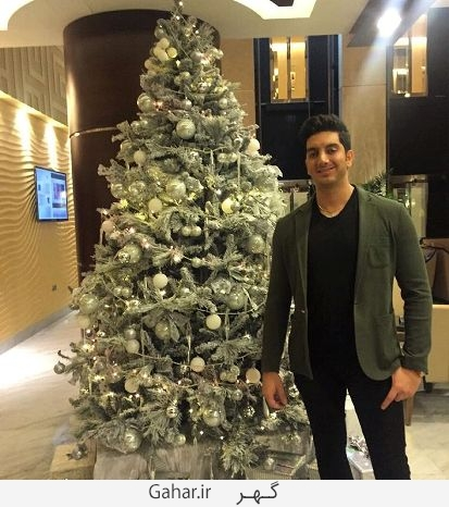 farzadfarzin1 عکس های بازیگران ایرانی در کنار درخت کریسمس + پیام تبریک