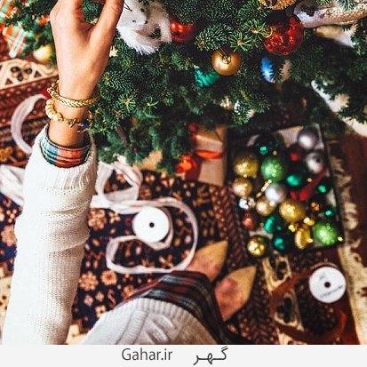maryammasoumi عکس های بازیگران ایرانی در کنار درخت کریسمس + پیام تبریک