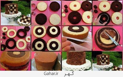 cake01 آموزش گام به گام درست کردن کیک شطرنجی